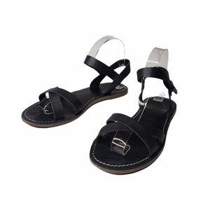 Madewell Boardwalk Criss-cross Black Flat Sandal 8